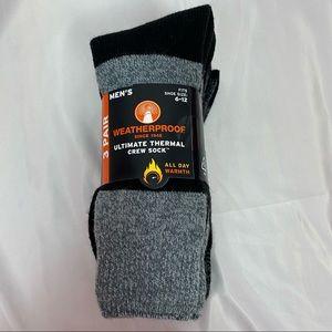 Weatherproof Thermal Crew Socks Men's size 6-12